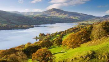 Bala Lake and the Aran Hills in the Snowdonia National Park