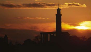 Silhouette of Calton Hill. Part of destination management company Ireland