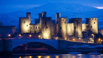 Conwy Castle is a historic Norman castle on the estuary of the river Conwy