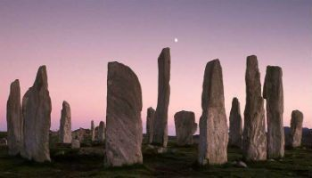 The Standing Stones of Callanish at dusk, Isle of Lewis, Scotland.