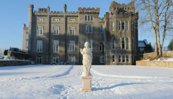 Snow at Kilronan Castle on part of our Destination Management Ireland Tours