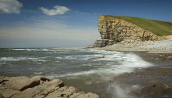 Nash point near St Donats on the Glamorgan heritage coast in Wales.