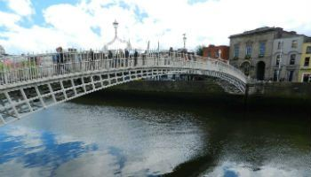 Ha'penny bridge over the Liffey, Dublin. Enjoyed on one of our Leisure Tours of Ireland
