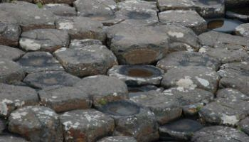 The Giants Causeway in Northen Ireland and its unique rock formations