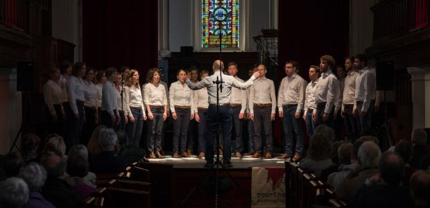 Choir performing in a church in Ireland