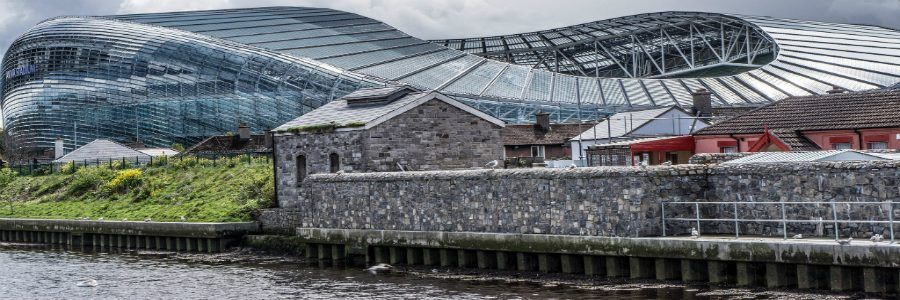 The Aviva Stadium Dublin Ireland. Enjoy The sporting culture of Ireland with Discover Ireland Tours.