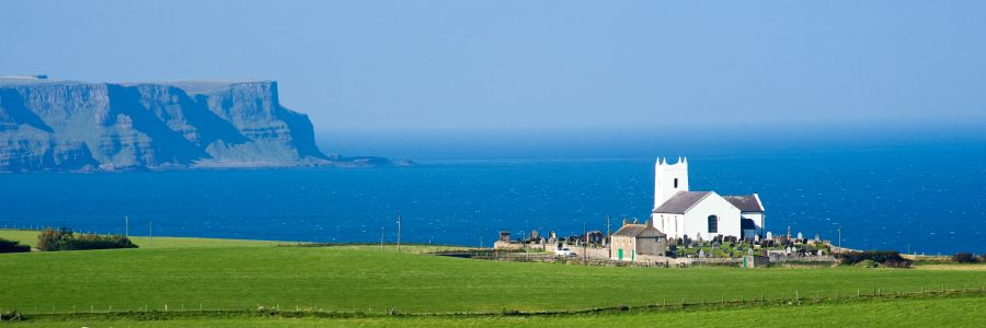 Church by the sea in north west Ireland on one of our Christian tours of Ireland