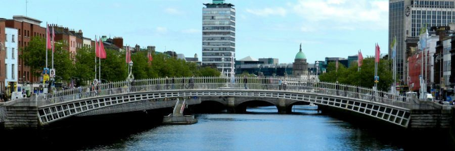 A view of Dublin and the The River Liffey on of the many place we cover as DMC operator Ireland tours