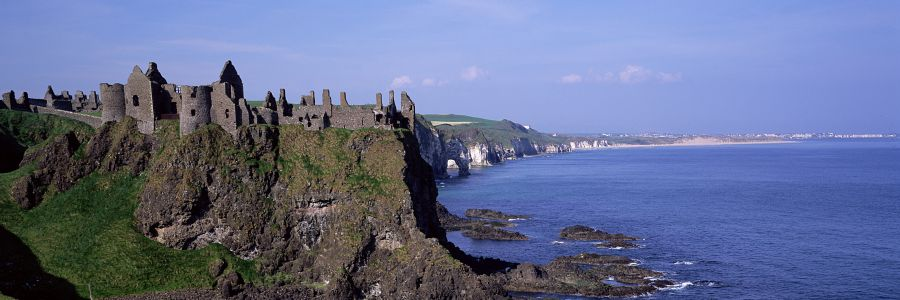 Dunluce Castle, Country Antrim, a view from our Historical Leisure Tours of Ireland.