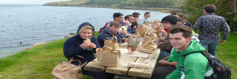 Students enjoying some leisure time on student tours of ireland