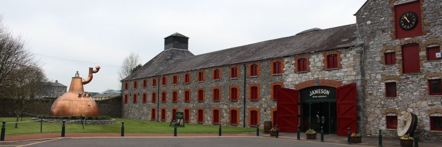 Jameson Distiller Museum - Middleton - Co Cork Ireland. Enjoy iconic attractions of Ireland with Discover Ireland Tours.