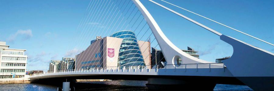 The Samuel Beckett Bridge, Dublin, a view from our Leisure Tours of Ireland.