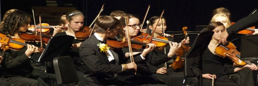 School orchestra performing on school orchestra tours of Ireland