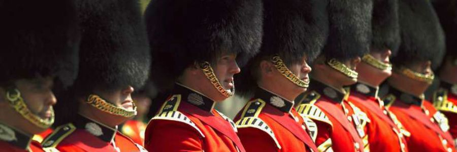 The famous guards outside Buckingham Palace in London, England. Part of destination management company ireland