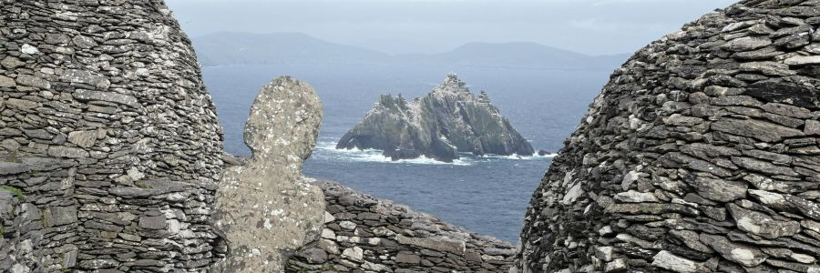 Skellig Michael Monastery and Little Skellig off County Kerry Ireland, enjoy the iconic sights of Ireland on our Leisure Tours of Ireland