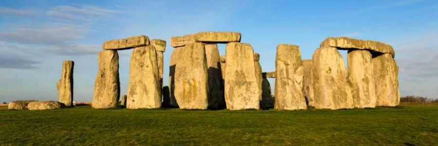Stonehenge prehistoric monument, located in Wiltshire in south-west England, was built from Welsh Rocks quarried 150 miles away.