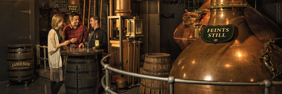 Jameson Distillery Museum - Middleton - Co Cork Ireland. Enjoy a whiskey tour of Ireland with Discover Ireland Tours.